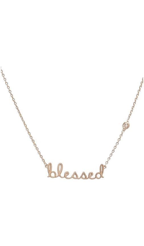 Blessed Necklace with Diamond Bezel