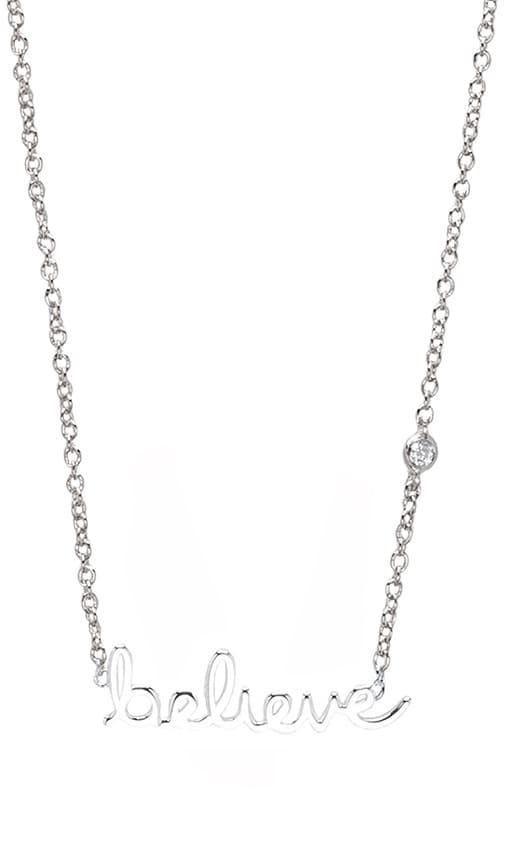 Believe Necklace with Diamond