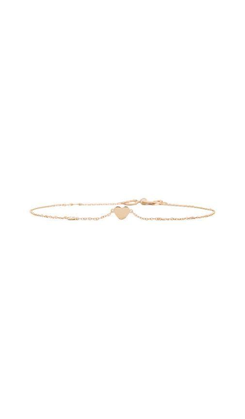 Heart Bracelet with Diamond Bezel
