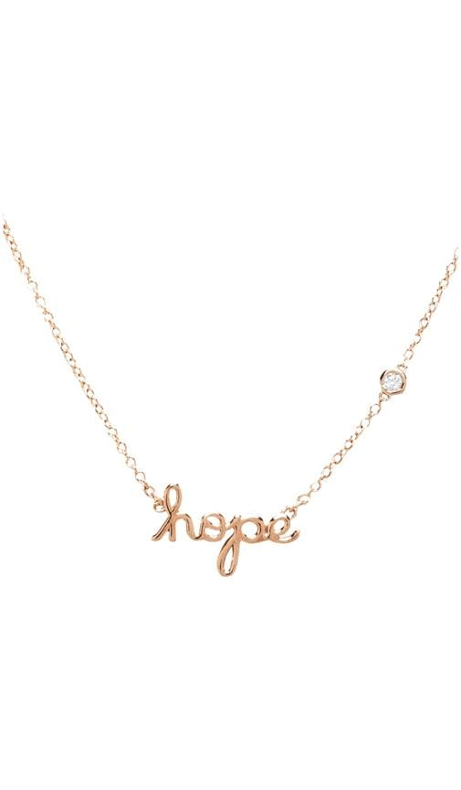 Hope Necklace with Diamond Bezel