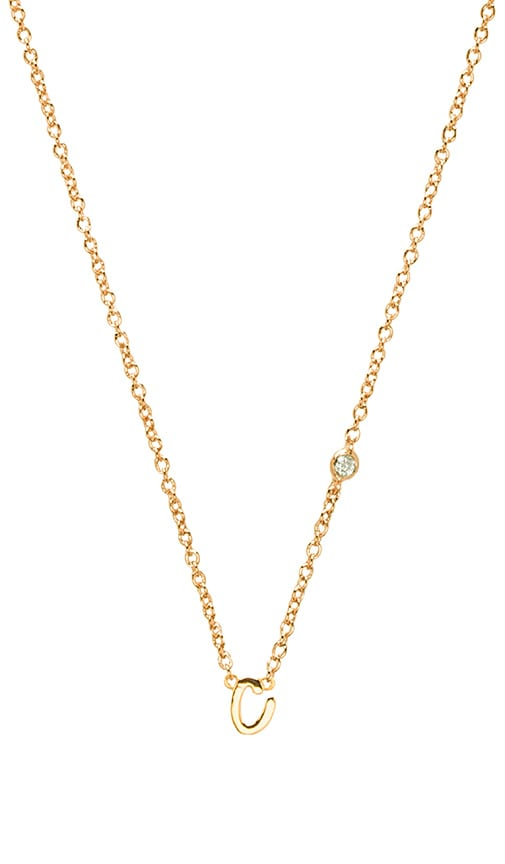 C Necklace with Diamond Bezel
