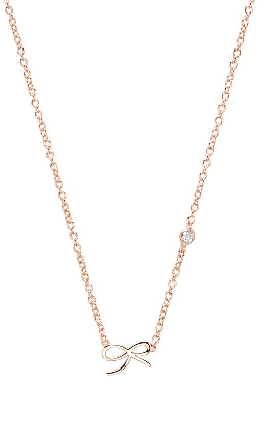 Bow Necklace with Diamond Bezel