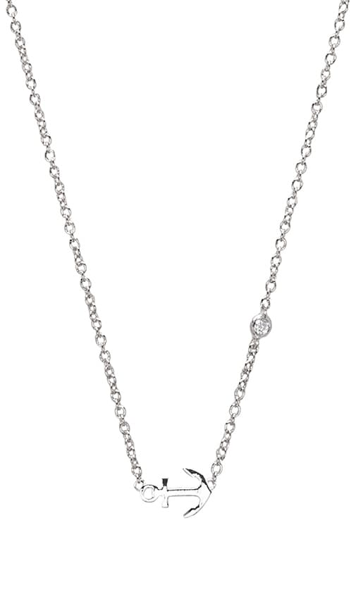 Anchor Necklace with Diamond Bezel