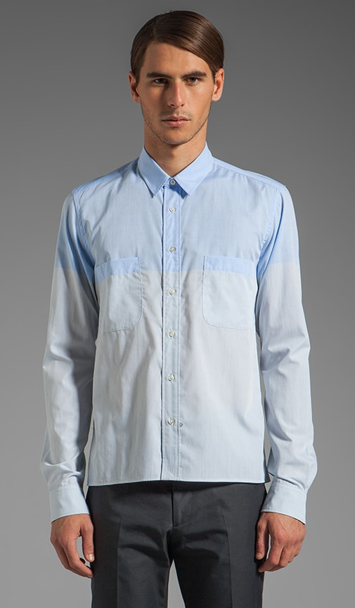Slim and Cropped Shirt w/ Pockets and Straight Hem