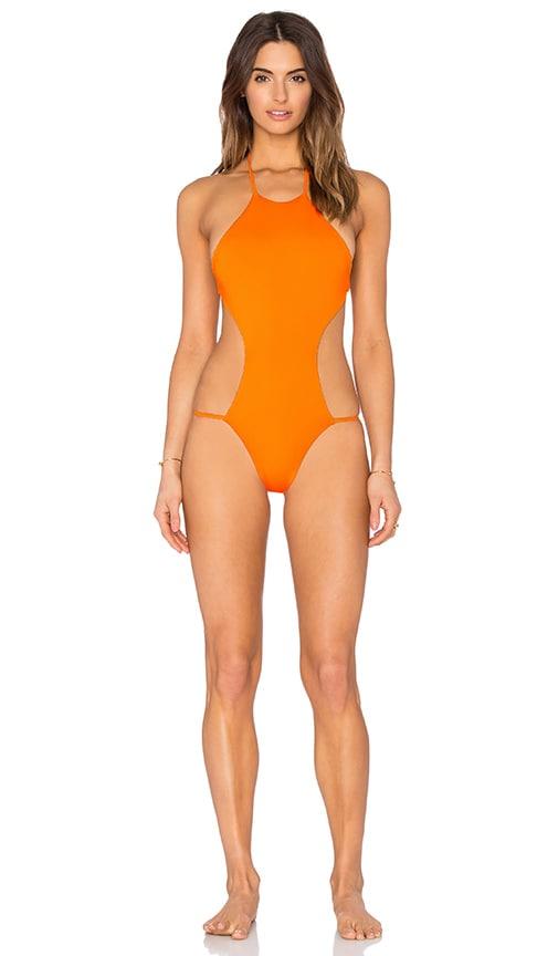 siempre golden Blacks Swimsuit in Poppy