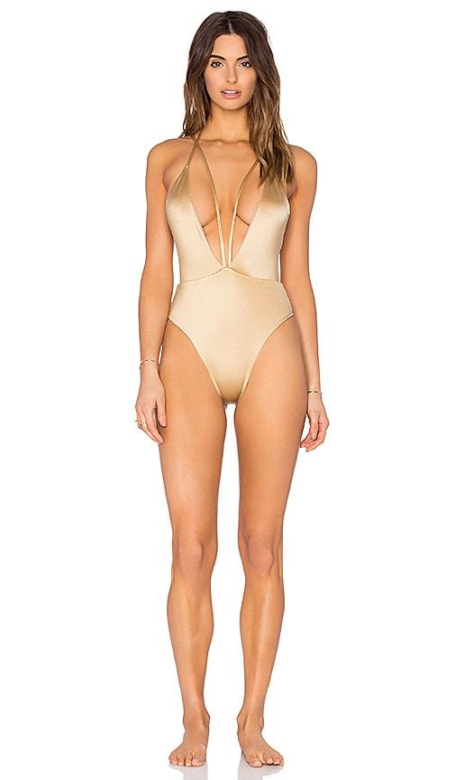 siempre golden Trestles Swimsuit in Golden & Desert