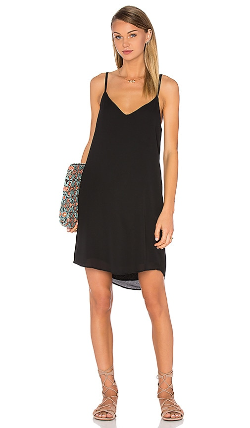 Sincerely Jules Capri Slip Dress in Black
