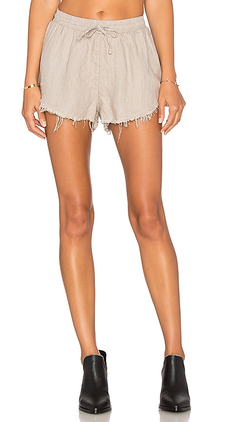 Sincerely Jules Lea Linen Short in Gray