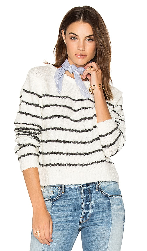 Sincerely Jules Tula Striped Sweater in White