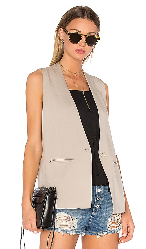 Sincerely Jules Kate Sleeveless Blazer in Taupe