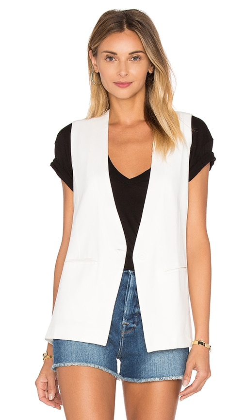 Sincerely Jules Kate Sleeveless Blazer in White