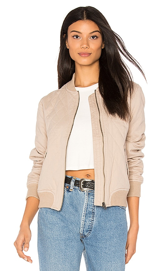 Sincerely Jules Girl Bomber in Taupe