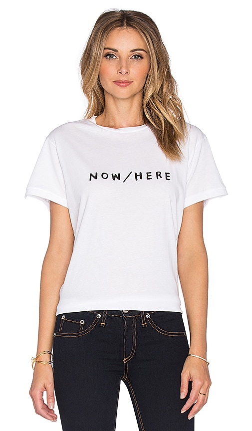 Sincerely Jules Now Here Tee in White