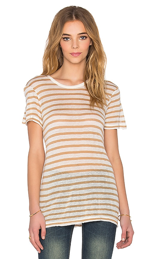 Sincerely Jules Beau Striped Tee in Mustard Stripes