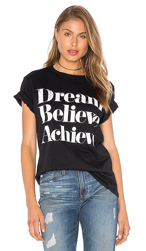 Sincerely Jules Dream Believe Achieve Tee in Black