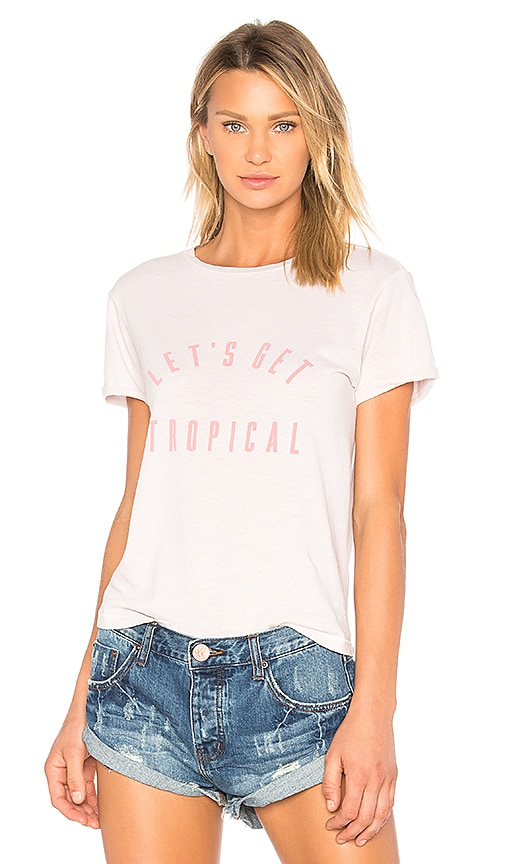 Sincerely Jules Tropical Graphic Tee in White