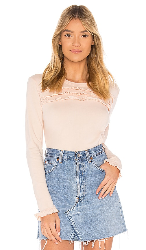 Sincerely Jules Ruffle Top in Pink