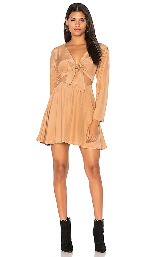 SIR the label Elsa Long Sleeve Dress in Tan