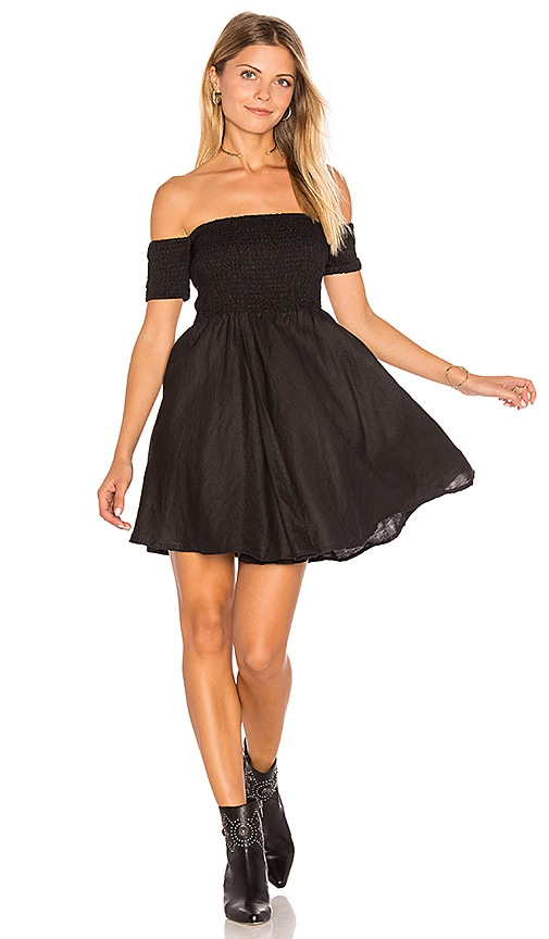 SIR the label Jen Strapless Dress in Black
