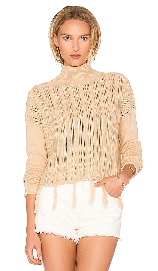 SIR the label Tane Fringe Sweater in Tan