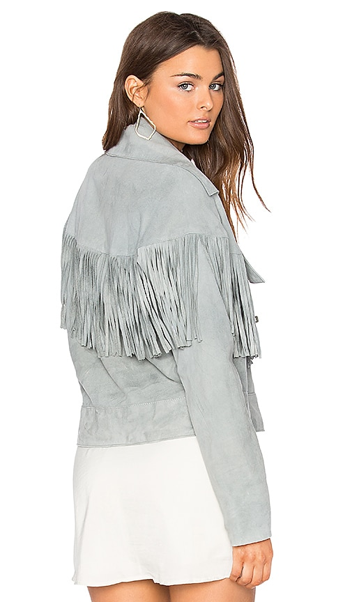 SIR the label Thelma Fringe Jacket in Gray