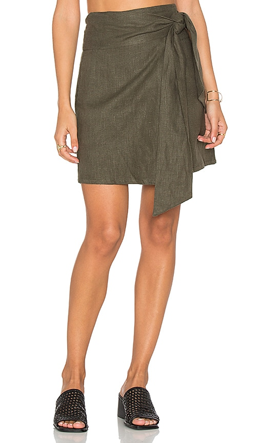 SIR the label Cheyne Wrap Skirt in Army