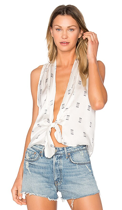 SIR the label Sienna Tie Top in White