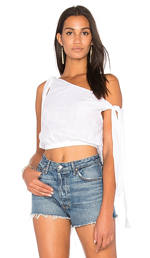 SIR the label Taylor Tie Top in White