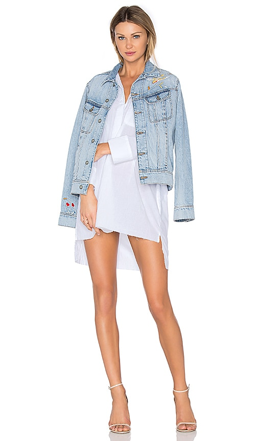 Siwy x REVOLVE Dana Denim Jacket in La Vie En Rose