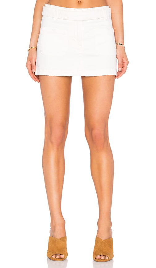 Siwy Addison Mini Skirt in Cream