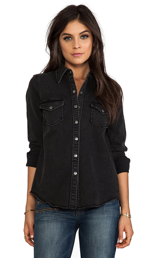 Ellie Denim Snap Front Shirt