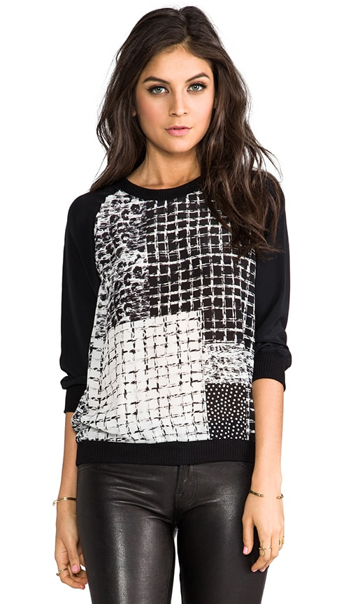 Lombard Patch Print Silk Sweatshirt