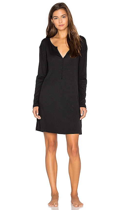 Skin Long Sleeve Tunic in Black