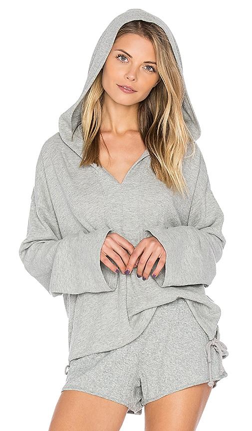 Skin Hoodie in Gray
