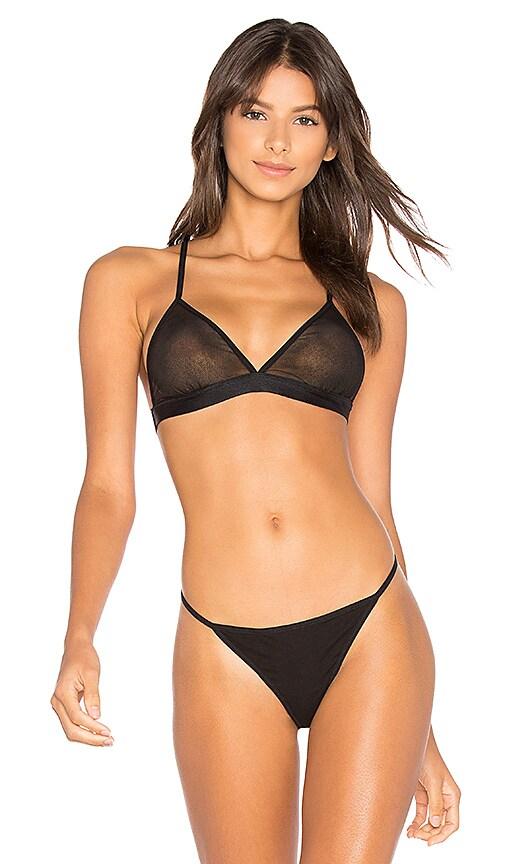 Skin Uri Triangle Bra in Black