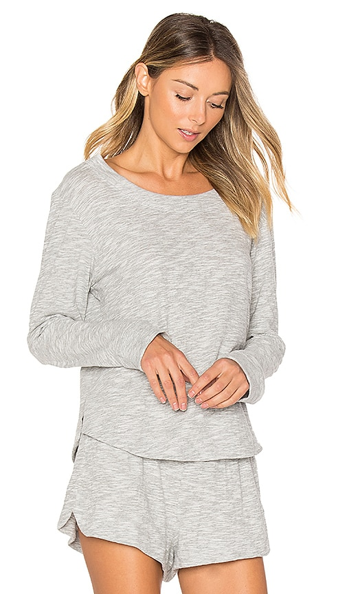 Skin Long Sleeve Top in Gray