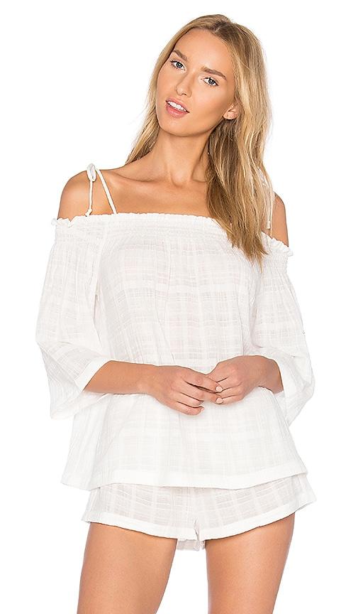 Skin Off Shoulder Top in White