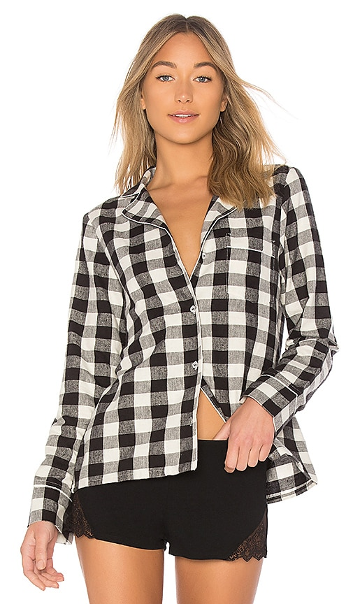 Skin Lucienne PJ Shirt in Black