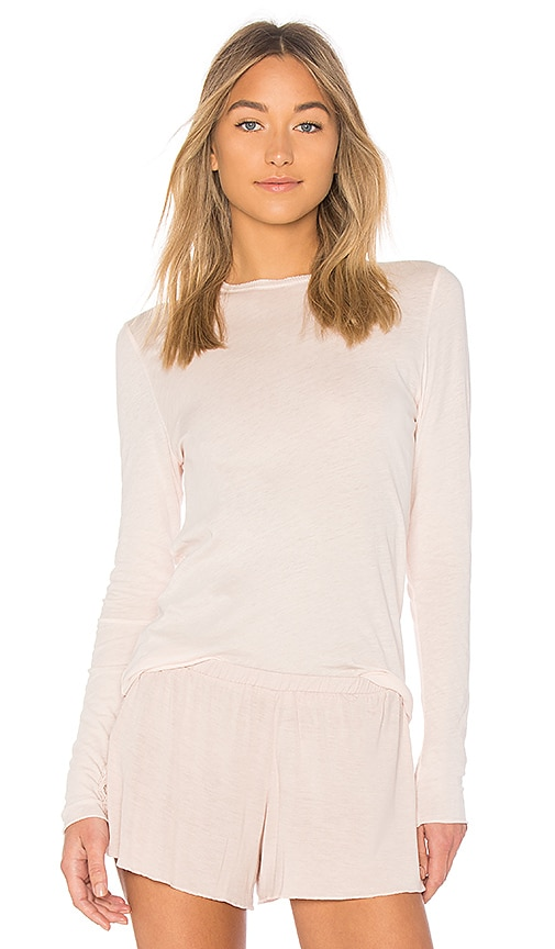 Skin Essential Long Sleeve Tee in Blush