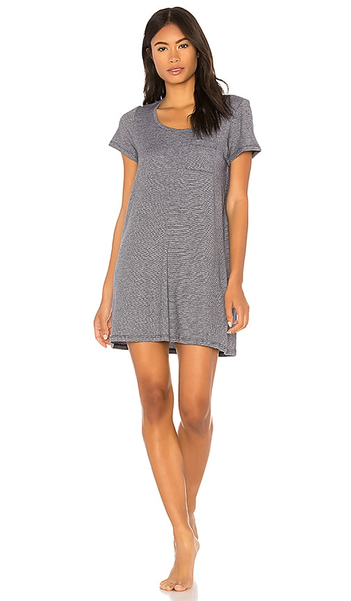 Skin Mabel Shirt Dress in Gray
