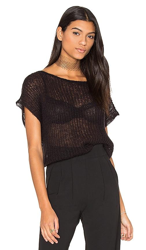 susanne karlsson Kitte Crop Sweater in Black