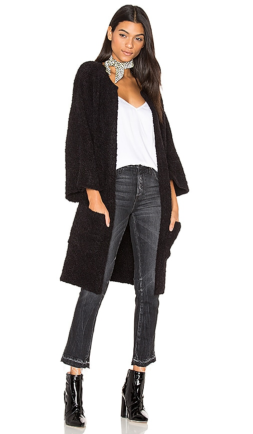 susanne karlsson Micke 3/4 Sleeve Cardigan in Black