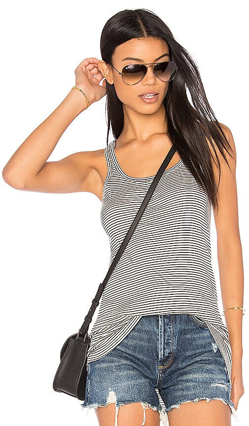 susanne karlsson Magnus Striped Tank in Black