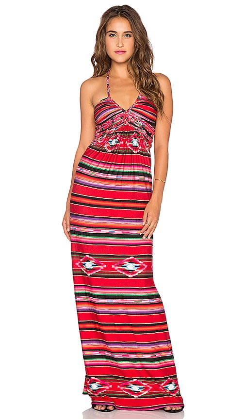 sky Rahimo Maxi Dress in Red