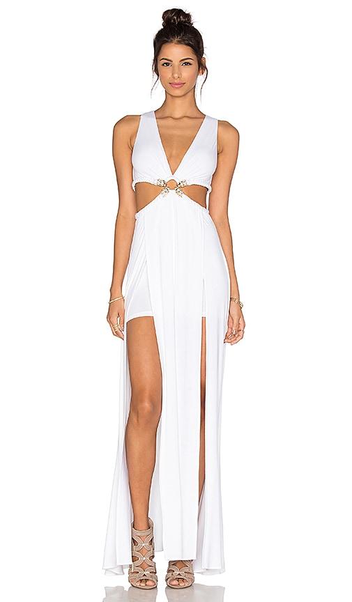 sky Thyra Dress in White