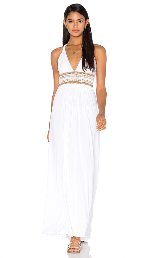 sky Sabine Dress in White
