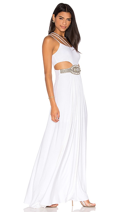 sky Uatchit Maxi Dress in White