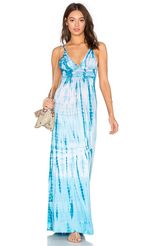 sky Yahaira Maxi Dress in Turquoise