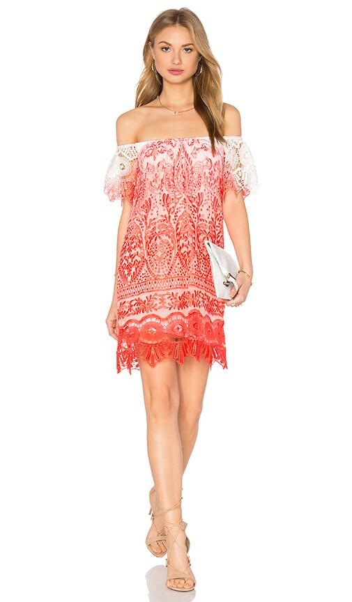 sky Jabir Dress in Coral