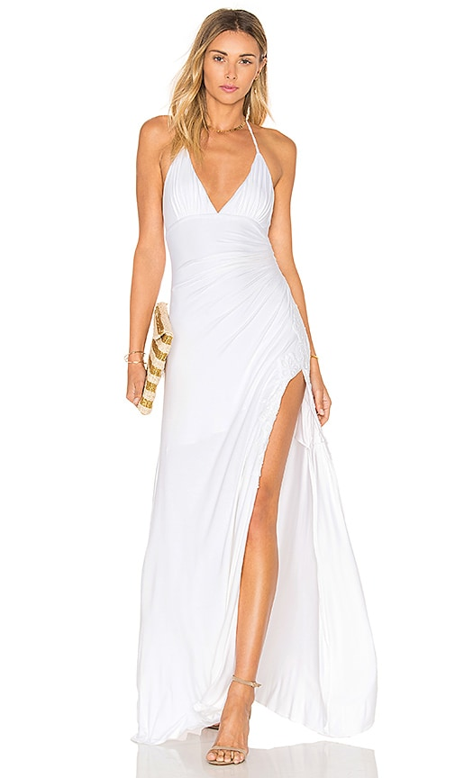 sky Tizzii Maxi Dress in White